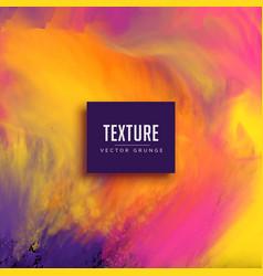 Watercolor ink flow background grunge texture vector