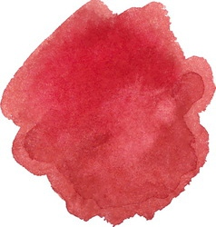Watercolor marsala color spot vector image