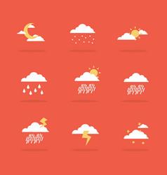 Weather set icon flat vector