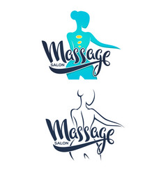 Women health beauty massage and treatment vector