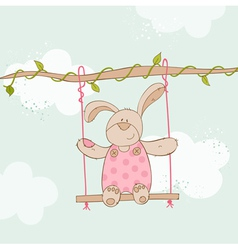 Baby Shower Card - with Baby Bunny vector image vector image