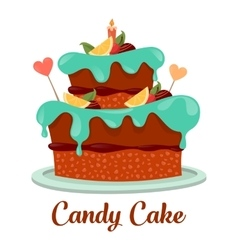 Bakery or pastry cake logo candy pie icon vector