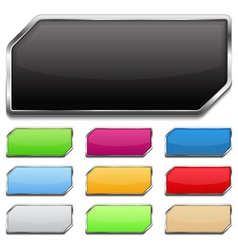 Buttons with Metallic Frame vector image vector image