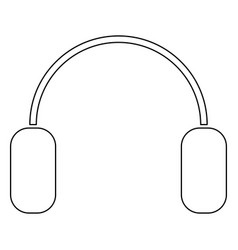 headphone the black color icon vector image