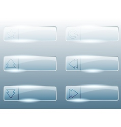 Rectangular transparent glass buttons vector image vector image