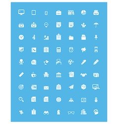 Simple business and office icon set vector image vector image