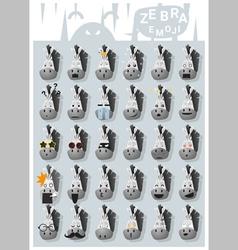 Zebra emoji icons vector image vector image