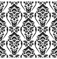 Floral damask wallpaper vector image