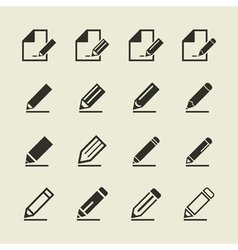Pencil an icon vector image vector image