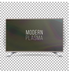 screen lcd plasma realistic flat smart tv vector image