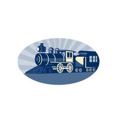 Steam train or locomotive vector