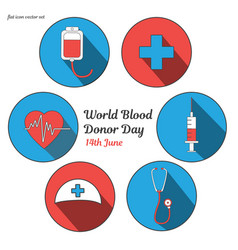 World blood donor day international holiday vector