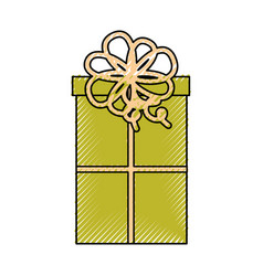 cute scribble christmas gift vector image vector image