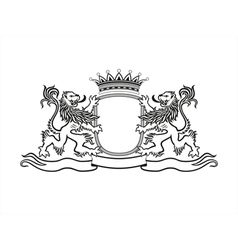 HERALDRY Crest with lions vector image vector image