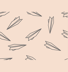 seamless pattern with simple origami paper planes vector image vector image