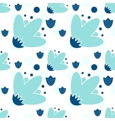 Seamless Repeating Background - Polka Dot Roses vector image