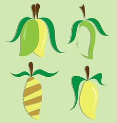 set of mango icon vector image