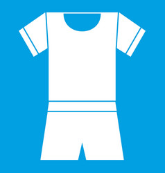 Sport shirt and shorts icon white vector