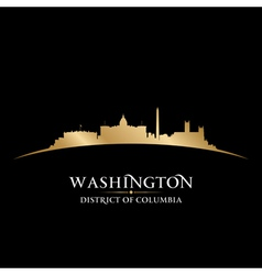 Washington DC city skyline silhouette vector image vector image