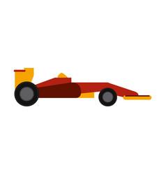 race car flat vector image