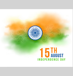15th august indian independence day watercolor vector