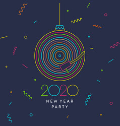2020 new year party banner poster vinyl vector image