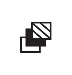 3 layer icon stack level different type of vector