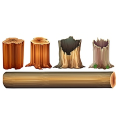 A log and tree stumps vector