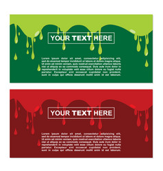 Banner design with halloween theme vector