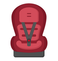 black and red baby car seat front view isolated vector image
