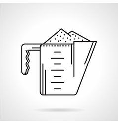 Black line icon for cup-supplements vector