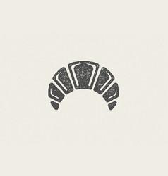 Black silhouette freshly baked bun designed vector