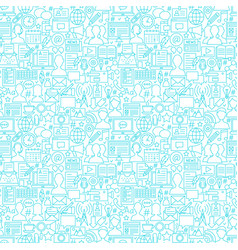 blog white line seamless pattern vector image