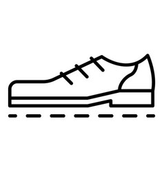 bowling shoes icon outline style vector image