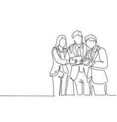 Business marketing concept single continuous line vector