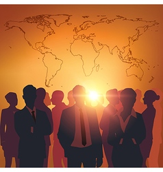 Business meeting with worldmap vector image