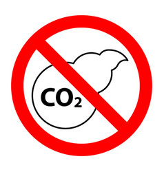 co2 air pollution stop forbidden prohibition sign vector image
