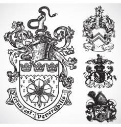 Coat arms shield ornaments vector