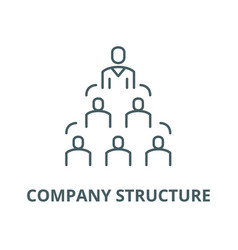 company structure line icon company vector image