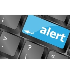 Computer keyboard with attention key alert vector image