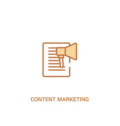 Content marketing concept 2 colored icon simple vector