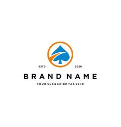 Creative ace logo design vector