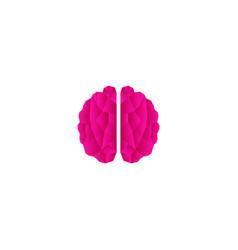 Creative poly color brain logo design template vector