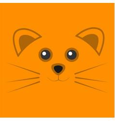 cute orange mouse face background vector image