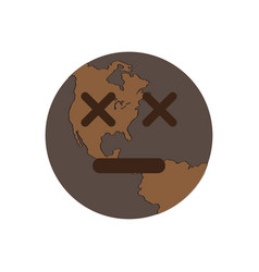 Dead earth emote earth day vector