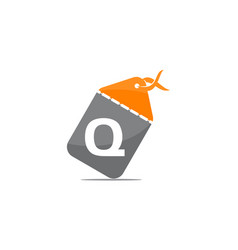 discount shop initial q vector image