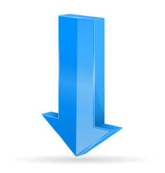 Down arrow blue straight icon vector