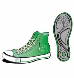 ecology shoe vector image