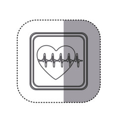 Figure emblem heartbeat icon vector