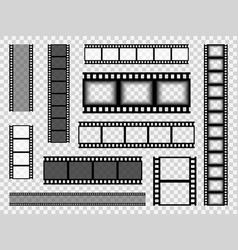 film strip templates cinema monochrome border vector image